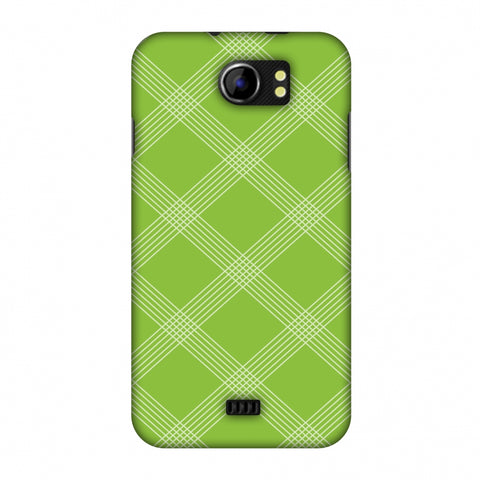Carbon Fibre Redux Pear Green 5 Slim Hard Shell Case For Micromax Canvas 2 A110