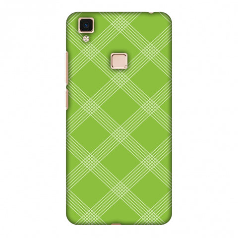 Carbon Fibre Redux Pear Green 5 Slim Hard Shell Case For Vivo V3 Max
