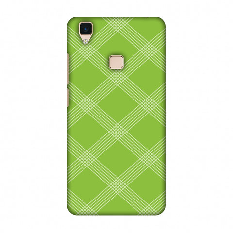 Carbon Fibre Redux Pear Green 5 Slim Hard Shell Case For Vivo V3