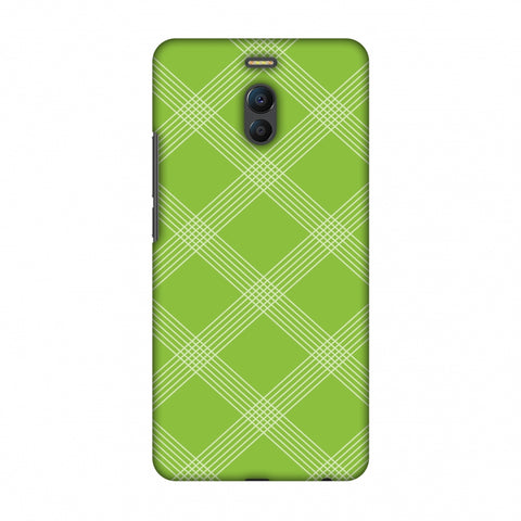 Carbon Fibre Redux Pear Green 5 Slim Hard Shell Case For Meizu Note 6