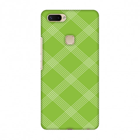 Carbon Fibre Redux Pear Green 5 Slim Hard Shell Case For Vivo X20 Plus