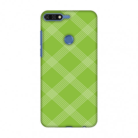 Carbon Fibre Redux Pear Green 5 Slim Hard Shell Case For Huawei Honor 7C