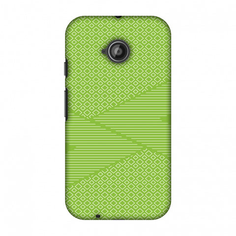 Carbon Fibre Redux Pear Green 6 Slim Hard Shell Case For Motorola Moto E 2nd Gen