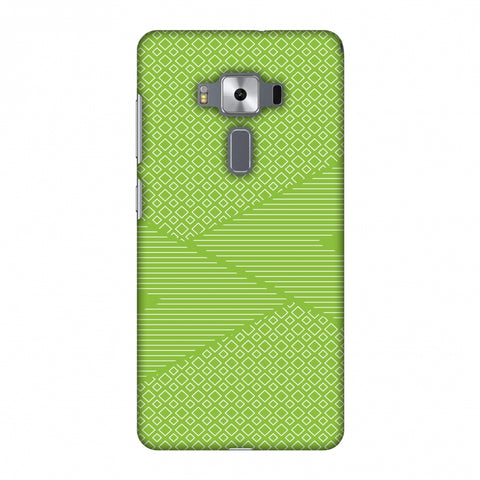 Carbon Fibre Redux Pear Green 6 Slim Hard Shell Case For Asus Zenfone 3 Deluxe ZS570KL