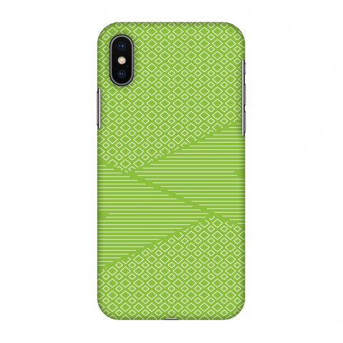 Carbon Fibre Redux Pear Green 6 Slim Hard Shell Case For Apple iPhone X