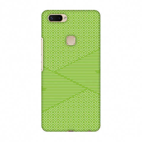 Carbon Fibre Redux Pear Green 6 Slim Hard Shell Case For Vivo X20 Plus
