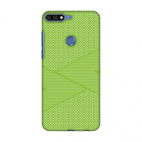 Carbon Fibre Redux Pear Green 6 Slim Hard Shell Case For Huawei Honor 7C