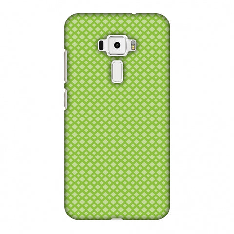 Carbon Fibre Redux Pear Green 7 Slim Hard Shell Case For Asus Zenfone 3 ZE520KL