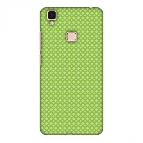 Carbon Fibre Redux Pear Green 7 Slim Hard Shell Case For Vivo V3 Max