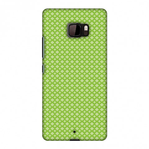 Carbon Fibre Redux Pear Green 7 Slim Hard Shell Case For HTC U Ultra