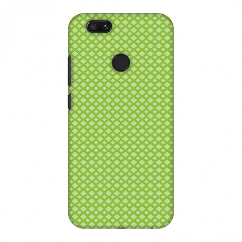 Carbon Fibre Redux Pear Green 7 Slim Hard Shell Case For Xiaomi MI A1-5X