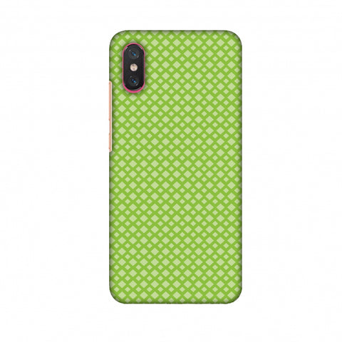 Carbon Fibre Redux Pear Green 7 Slim Hard Shell Case For Xiaomi Mi 8 Pro