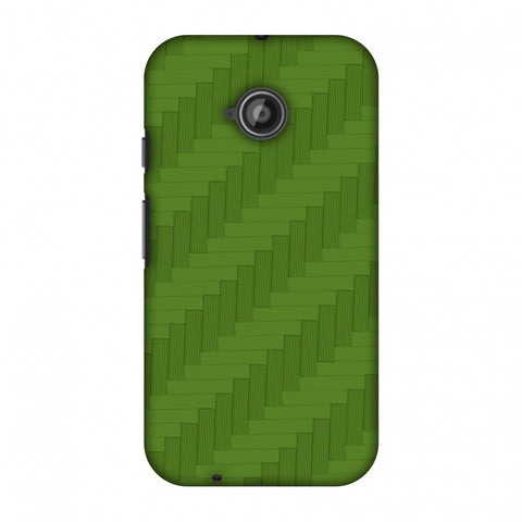 Carbon Fibre Redux Pear Green 8 Slim Hard Shell Case For Motorola Moto E 2nd Gen
