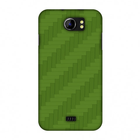 Carbon Fibre Redux Pear Green 8 Slim Hard Shell Case For Micromax Canvas 2 A110