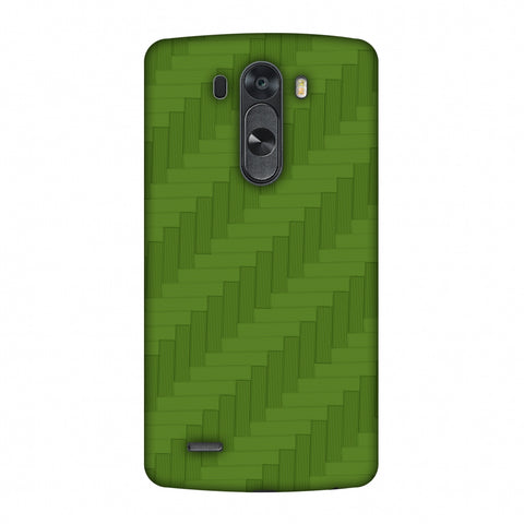 Carbon Fibre Redux Pear Green 8 Slim Hard Shell Case For LG G4