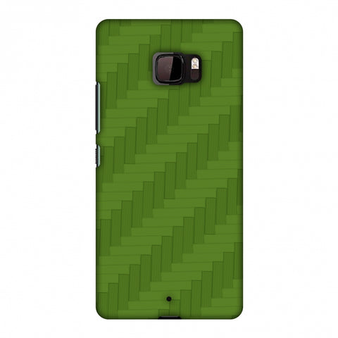 Carbon Fibre Redux Pear Green 8 Slim Hard Shell Case For HTC U Ultra