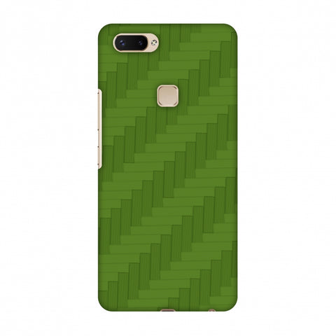Carbon Fibre Redux Pear Green 8 Slim Hard Shell Case For Vivo X20 Plus