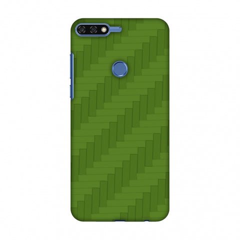 Carbon Fibre Redux Pear Green 8 Slim Hard Shell Case For Huawei Honor 7C