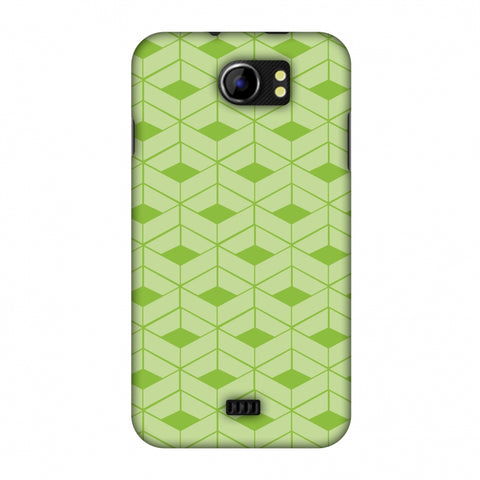 Carbon Fibre Redux Pear Green 9 Slim Hard Shell Case For Micromax Canvas 2 A110
