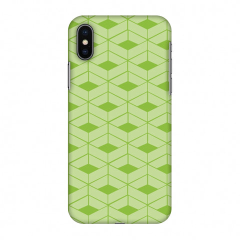 Carbon Fibre Redux Pear Green 9 Slim Hard Shell Case For Apple iPhone X