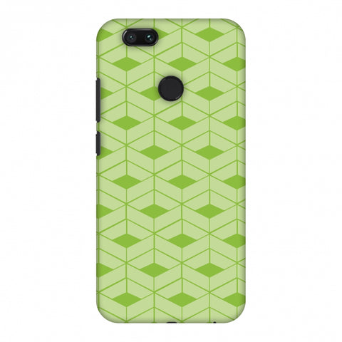 Carbon Fibre Redux Pear Green 9 Slim Hard Shell Case For Xiaomi MI A1-5X