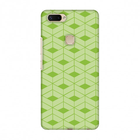 Carbon Fibre Redux Pear Green 9 Slim Hard Shell Case For Vivo X20 Plus