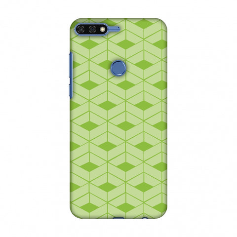 Carbon Fibre Redux Pear Green 9 Slim Hard Shell Case For Huawei Honor 7C