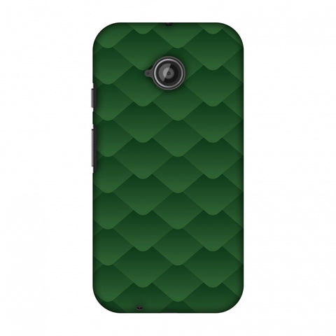 Carbon Fibre Redux Pear Green 11 Slim Hard Shell Case For Motorola Moto E 2nd Gen