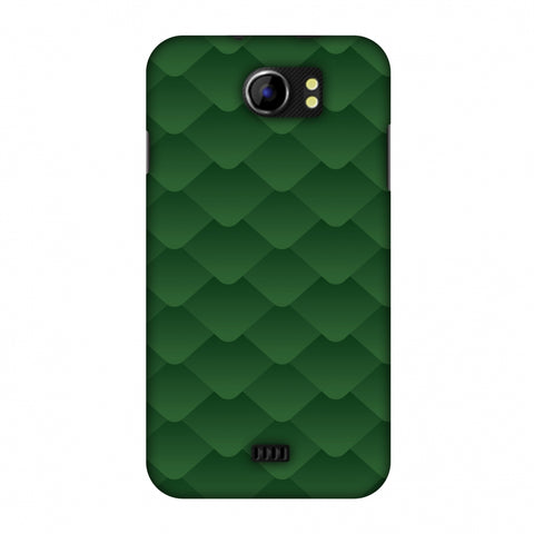 Carbon Fibre Redux Pear Green 11 Slim Hard Shell Case For Micromax Canvas 2 A110