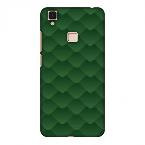 Carbon Fibre Redux Pear Green 11 Slim Hard Shell Case For Vivo V3 Max