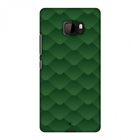 Carbon Fibre Redux Pear Green 11 Slim Hard Shell Case For HTC U Ultra