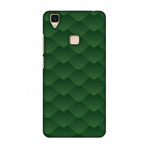 Carbon Fibre Redux Pear Green 11 Slim Hard Shell Case For Vivo V3