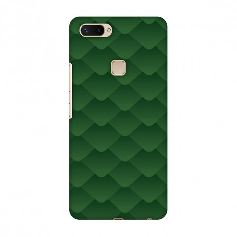 Carbon Fibre Redux Pear Green 11 Slim Hard Shell Case For Vivo X20 Plus