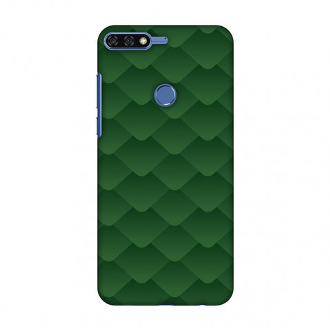 Carbon Fibre Redux Pear Green 11 Slim Hard Shell Case For Huawei Honor 7C