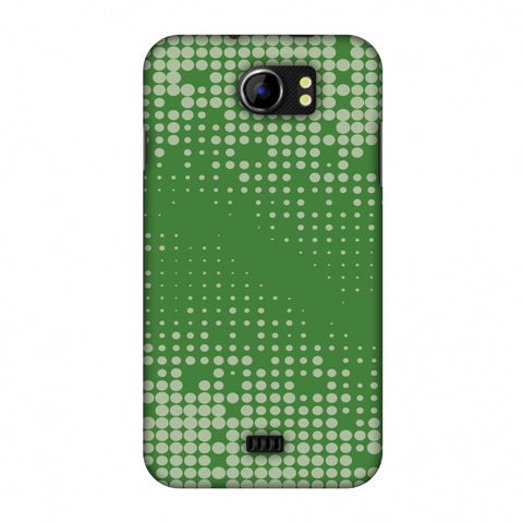 Carbon Fibre Redux Pear Green 12 Slim Hard Shell Case For Micromax Canvas 2 A110