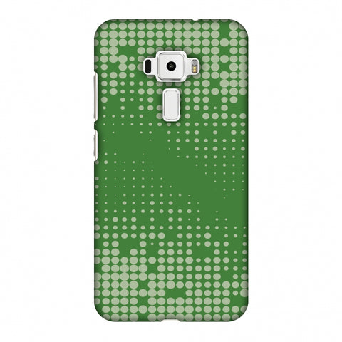 Carbon Fibre Redux Pear Green 12 Slim Hard Shell Case For Asus Zenfone 3 ZE520KL