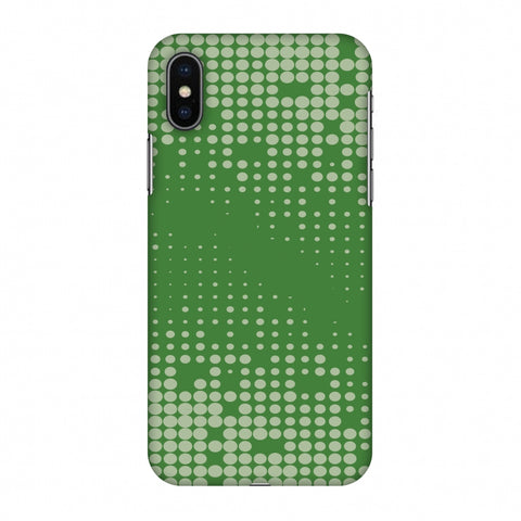 Carbon Fibre Redux Pear Green 12 Slim Hard Shell Case For Apple iPhone X