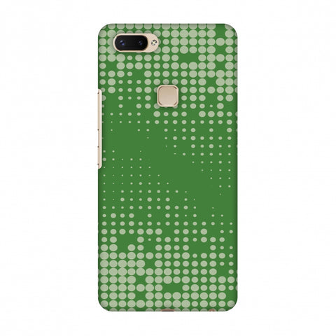 Carbon Fibre Redux Pear Green 12 Slim Hard Shell Case For Vivo X20 Plus