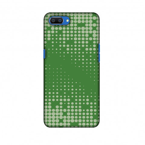 Carbon Fibre Redux Pear Green 12 Slim Hard Shell Case For Oppo Realme C1