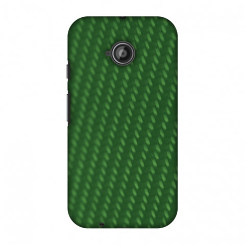 Carbon Fibre Redux Pear Green 13 Slim Hard Shell Case For Motorola Moto E 2nd Gen