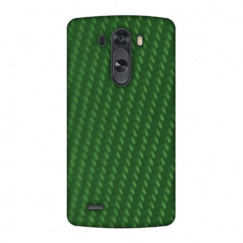 Carbon Fibre Redux Pear Green 13 Slim Hard Shell Case For LG G4