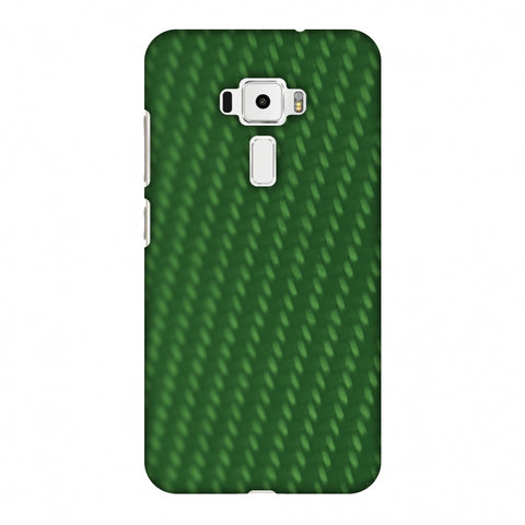 Carbon Fibre Redux Pear Green 13 Slim Hard Shell Case For Asus Zenfone 3 ZE520KL
