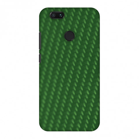 Carbon Fibre Redux Pear Green 13 Slim Hard Shell Case For Xiaomi MI A1-5X