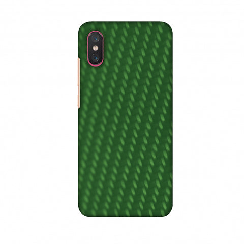 Carbon Fibre Redux Pear Green 13 Slim Hard Shell Case For Xiaomi Mi 8 Pro