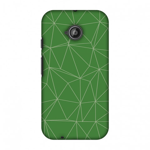 Carbon Fibre Redux Pear Green 14 Slim Hard Shell Case For Motorola Moto E 2nd Gen