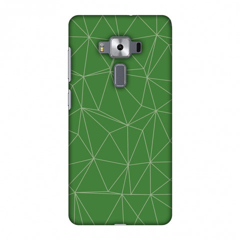 Carbon Fibre Redux Pear Green 14 Slim Hard Shell Case For Asus Zenfone 3 Deluxe ZS570KL