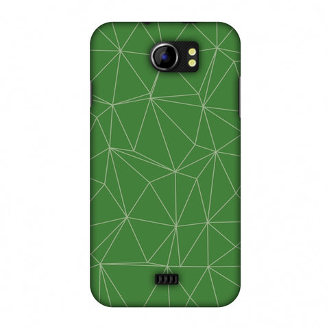 Carbon Fibre Redux Pear Green 14 Slim Hard Shell Case For Micromax Canvas 2 A110