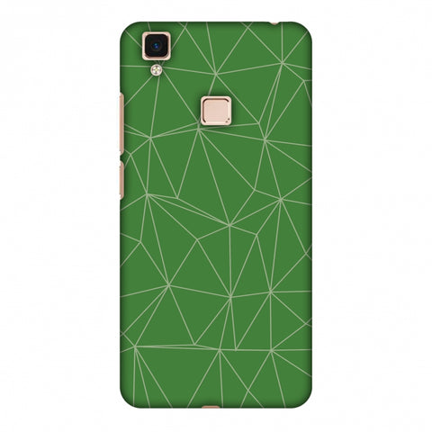 Carbon Fibre Redux Pear Green 14 Slim Hard Shell Case For Vivo V3 Max