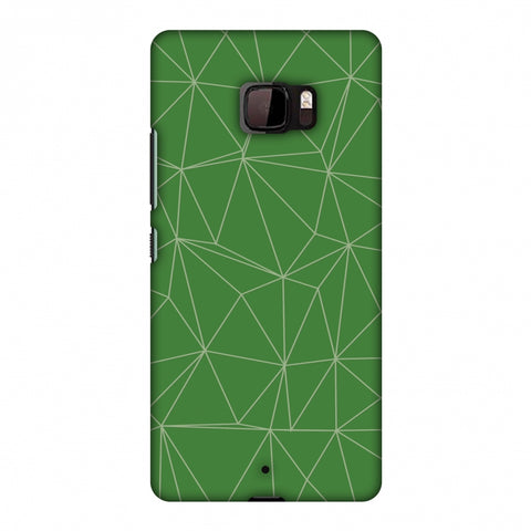 Carbon Fibre Redux Pear Green 14 Slim Hard Shell Case For HTC U Ultra