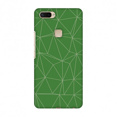 Carbon Fibre Redux Pear Green 14 Slim Hard Shell Case For Vivo X20 Plus